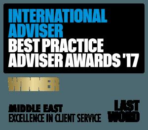 Best Practice Adviser Awards 2017 Winner - Financial Advisors Dubai